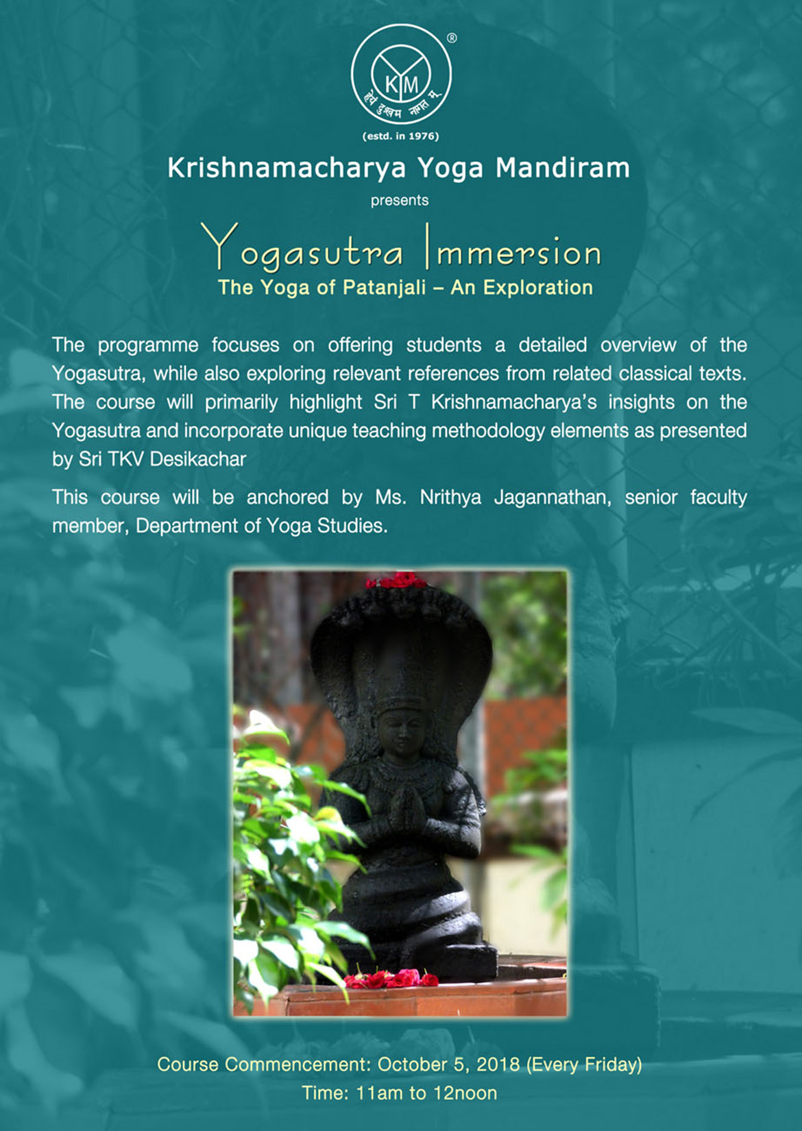 Yogasutra Immersion | The Yoga of Patanjali – An Exploration
