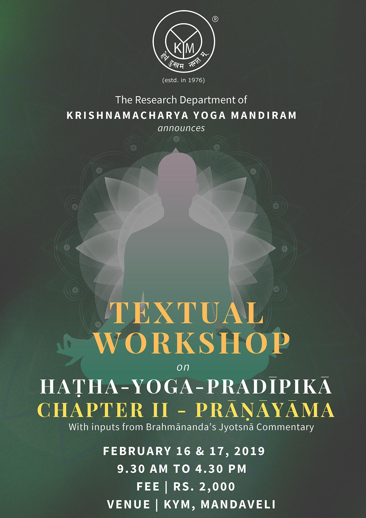 International Textual Workshop On Haṭha-Yoga-Pradīpikā, Focus On Prāṇāyāma