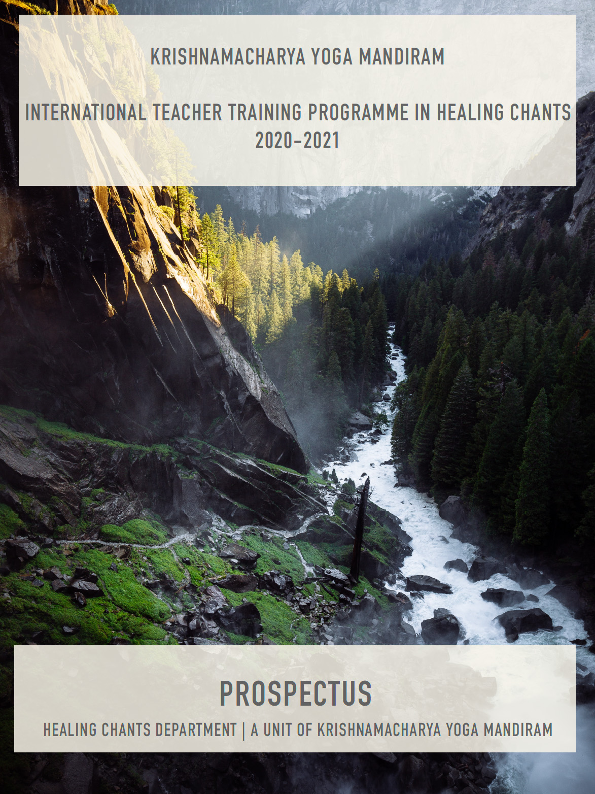 International Teacher Training Programme in Healing Chants (2020-21)