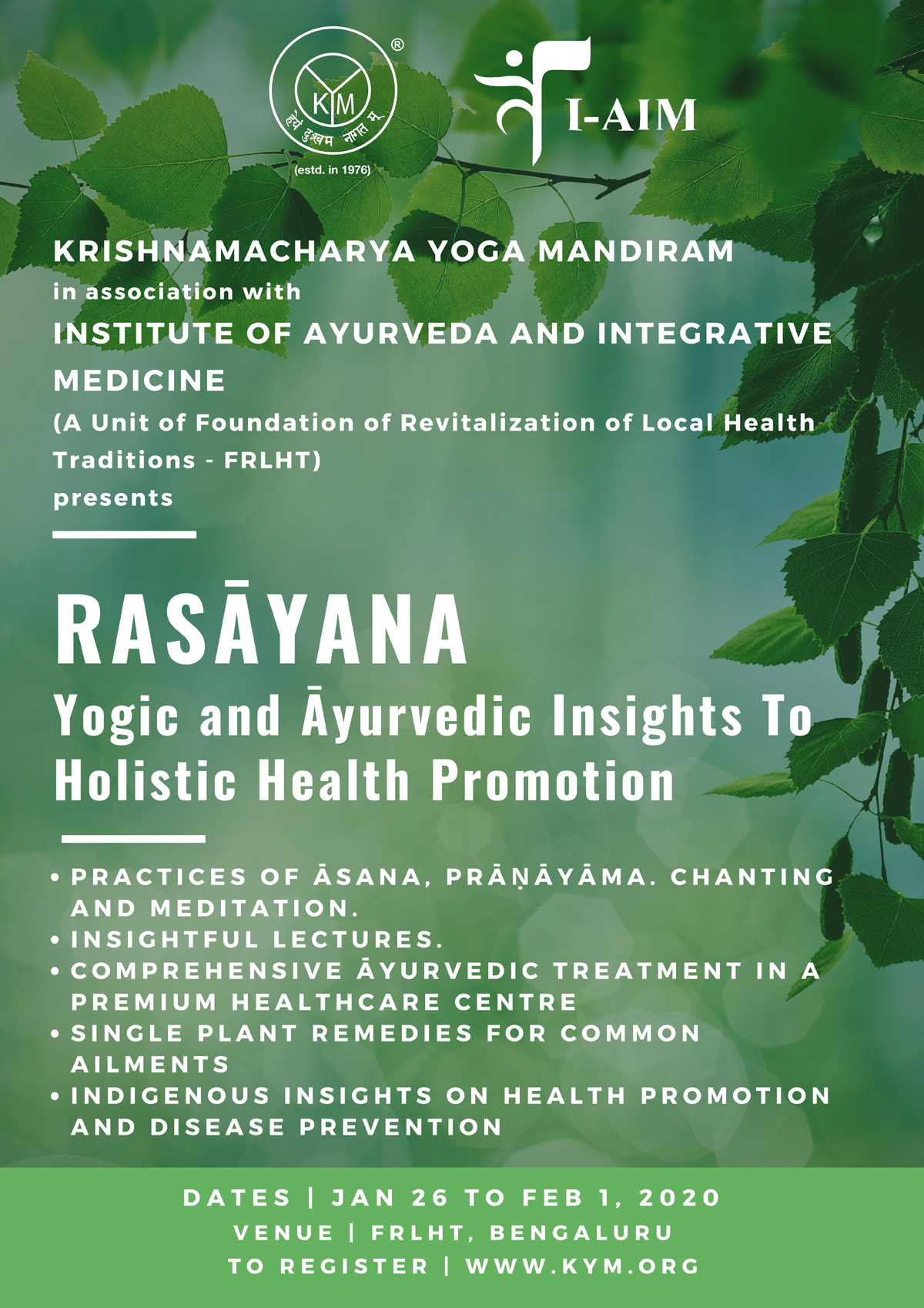 Rasāyana | Yogic and Āyurvedic Insights on Holistic Health Promotion