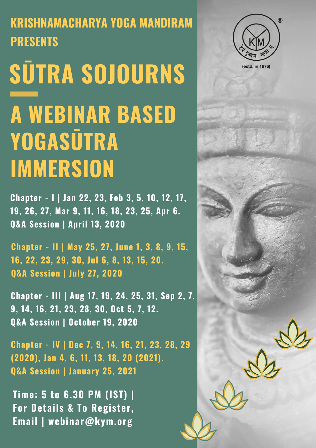 Sutra Sojourns | A Webinar Based Yogasutra Immersion