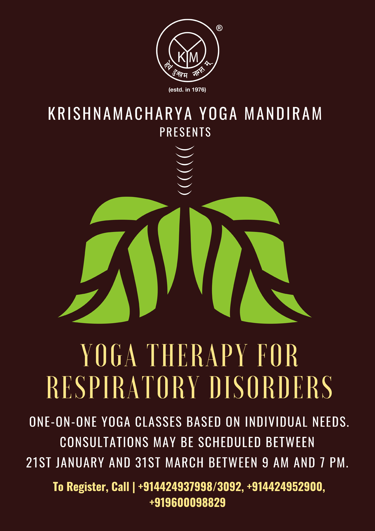 Yoga therapy Programme Focusing on Management of Asthma and other Respiratory Conditions